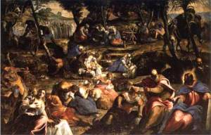Tintoretto - The Jews in the Desert